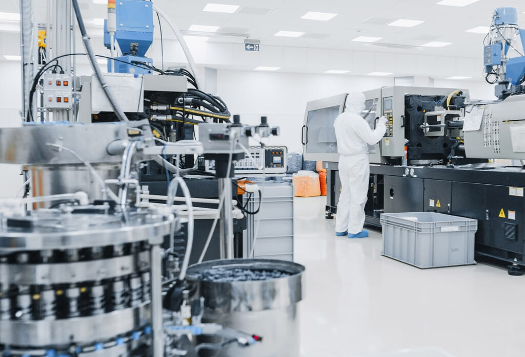 Pharmaceutical Clean Rooms with air pressure vents